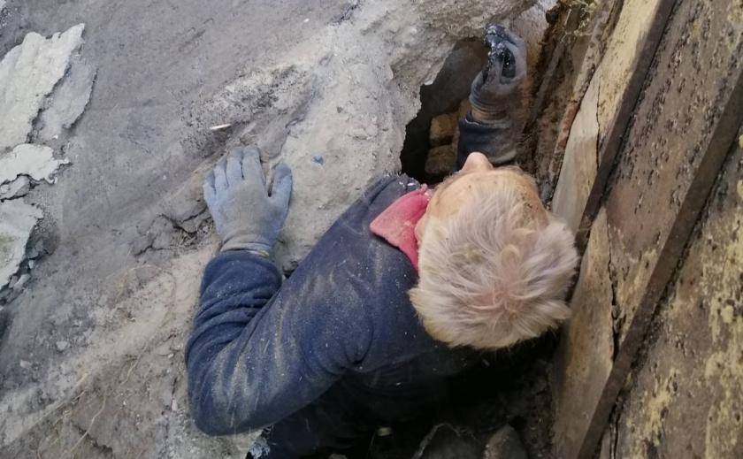 В Днепре пенсионера спасли из-под рухнувшего дома
