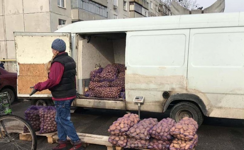 В Павлограде конфисковывают картошку