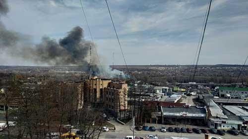 Пожар с Винницы дошел до Приднепровска ФОТО