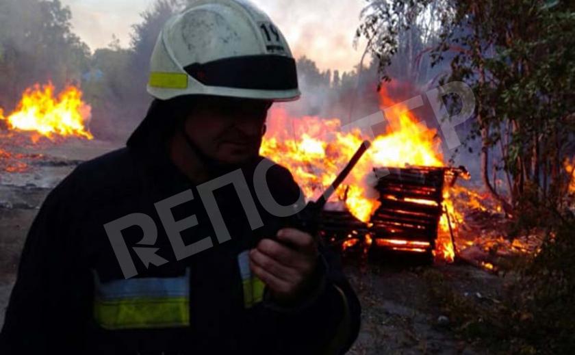 В Днепре сгорела почти 500-метровая свалка