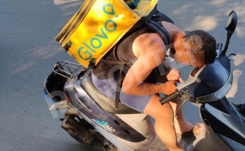 Курьер Glovo в Днепре «доставлял» необычную и противозаконную посылку